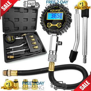 Petrol Engine Small Engine Cylinder Compression Tester 200 Psi With Adapter hose