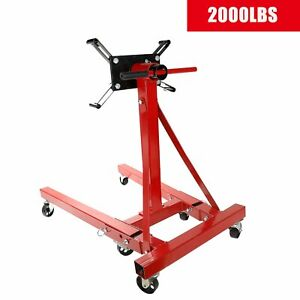 2000 Lb Engine Stand Folding Motor Hoist Dolly Mover Auto Repair Rebuild Jack