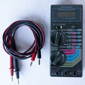 Radio Shack Micronta 22 185a Multimeter Cables Clean Tested