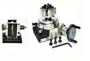 Rotary Table 4 With 70mm Independent Chuck Single Bolt Tailstock