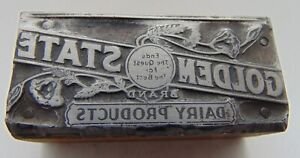 Printing Letterpress Printers Block Golden State Dairy Products