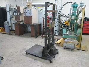 Colson 30 x 30 Manual Hydraulic Operation Die Cart W rear Rotating Casters