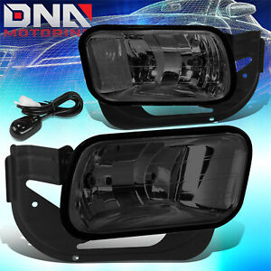 For 2009 2018 Dodge Ram 1500 2500 3500 Smoked Lens Front Driving Fog Light Lamps