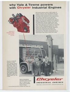 1958 Chrysler Industrial Engines Ad V8 For Yale Towne G3p Lift Truck Pictured
