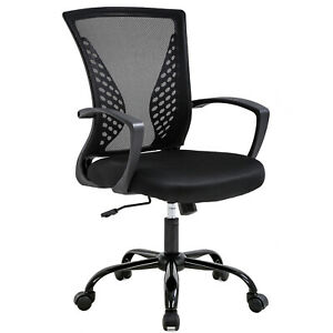 Office Chair Ergonomic Desk Chair Mesh Computer Chair With Lumbar Support black
