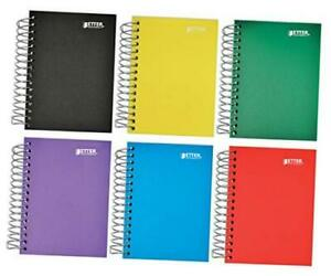 Fat Book Spiral Notebooks 6 Pack Small Notebooks With Poly Plastic Covers 5 5