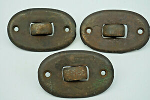Rare Set 3 Vintage Cast Iron Rollers Casters Piano Sliders