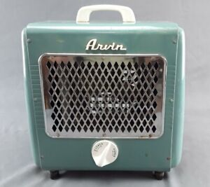 Vtg Retro Mid Century Arvin Electric Portable Space Heater Thermostat 1300 Watts