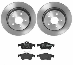 Brembo Rear Brake Kit Coated Disc Rotors And Low met Pads For Ford C max Escape