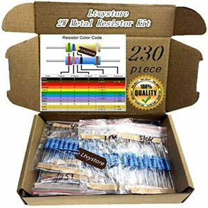 2w Resistors Kit Assortment Metal Film 23 Values 22 Ohm 1m Pack Assorted 1