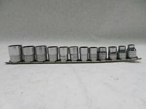 Snap on 12 Pc 3 8 Drive 12 point Metric Shallow Socket Set 8 19 Mm 212fmy