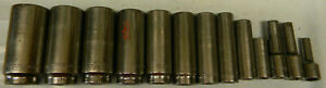 Matco Tools 3 8 Drive 13pc Sae 6pt Deep Socket Set 1 4 1 Sbd136ta