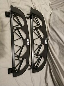 Used Thule 586 Angled 4 Pair Ski Carrier 586 Roof Rack Square Bar Mounts
