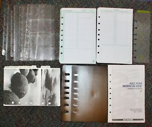 Classic Desk Planner Accessory 7 hole Address Tabs Protectors Sleeves Lot 14