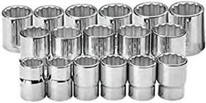 Williams 33930 3 4 Drive Metric Shallow Socket Set 24 Piece 12 Point 19 60mm