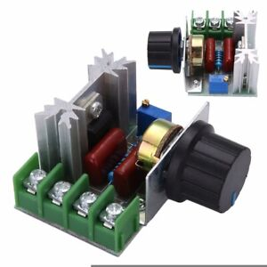 50 220v 2000w Ac Motor Dimmers Scr Controller Knob Switch Kit Speed Control Us