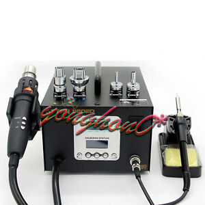 220v Dual Lcd 2 In 1 Atten At 8502d 700w Pro Hot Air Rework Iron Soldering