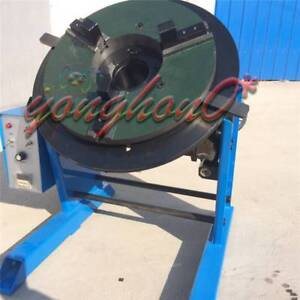 New 50kg Duty Welding Positioner Turntable Timing With 200mm Chuck 110v