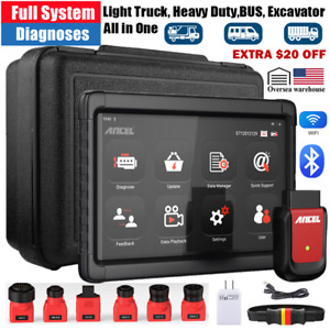 Heavy Duty Truck Scanner Diagnostic Tool Bluetooth All System Tablet Dpf Abs