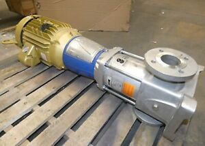 3 Goulds Esv 3 stage Stainless Vertical In line Pump W 20hp Motor