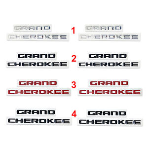 2pcs Grand Cherokee 3d Letters Emblems Nameplate Jeep Badge 4 Colours