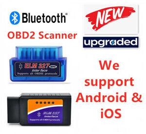 bluetooth Obd2 Car Scanner Code Reader Obdii Elm327 Diagnosis Tool Ios android
