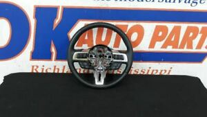 19 Ford Mustang Gt Steering Wheel With Radio And Cruise Control Black Leather