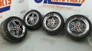 C5 Corvette Cray Scorpion Chrome Wheel Set With Tires Aftermarket