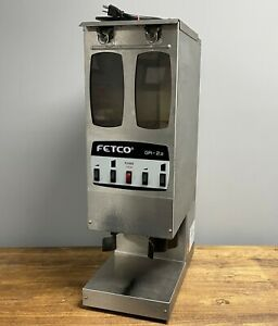 Fetco Gr 2 2 Commercial Coffee Grinder Stainless 1ph 5 7a 120v Dual Hopper