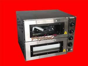 New 110v 16 Commercial Double Deck Electric Pizza Oven Commercial