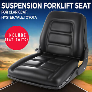 Universal Vinyl Suspension Forklift Seat Fits Clark Cat Hyster Yale Toyota New