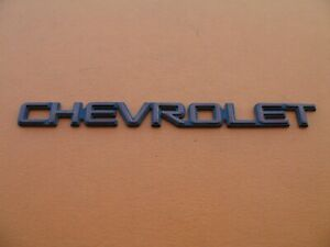 80 s 90 s Chevrolet Vintage Rear Lid Emblem Logo Badge Sign Symbol Used A15256