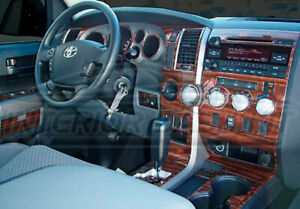 Toyota Tundra Quad Cab Crew Max Interior Wood Dash Trim Kit 2007 2008 2009 2010