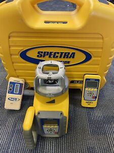Spectra Trimble Gl612 Rotary Grade Laser Level Remote Receiver Rc602 Hr320