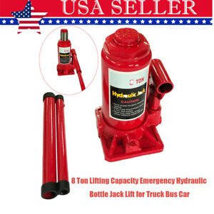7 8 Ton Lifting Capacity Emergency Hydraulic Bottle Jack Lift For Truck Bus Car