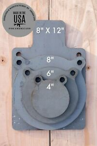3 8quot; AR500 Shooting Target 4pc Set 4quot; 6quot; 8quot; and 8quot;x 12quot; Silhouette USA MADE $44.75
