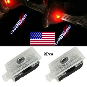 2x Led Door Courtesy Projector Puddle Logo Lights For Dodge Charger 2006 2019
