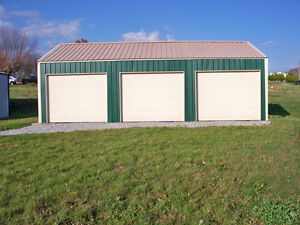 Galvanized Steel Insulated 3 car Garage Metal Building Shop Kit