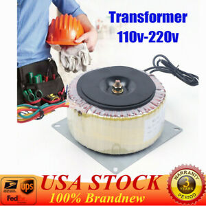 Toroidal Power Transformer Low Frequency Isolation Transformer 900w Us Stock