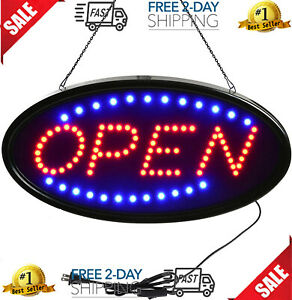 Open Closed Led Sign Include Business Hours Sign Board Electric Display Sign