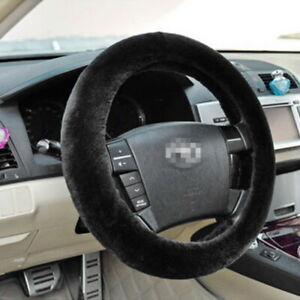 Us Car Truck Steering Wheel Cover Soft Plush Warm Fuzzy Fluffy Thick Faux Fur