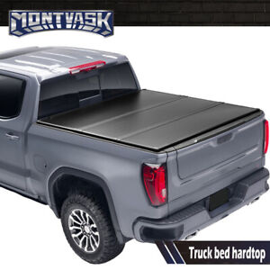 Hard Tri fold Tonneau Cover Truck Bed For 2007 2013 Toyota Tundra 6 5ft Black