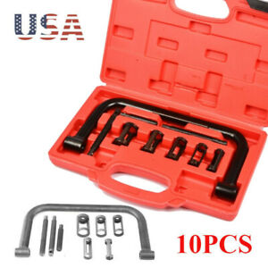Valve Spring Clamps Compressor 10 Pcs Cars Motorcycle Tool Bit Set Bs New