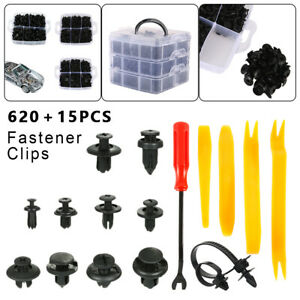 635 Pcs Car Clips Retainer Auto Fasteners Push Trim Clips Pin Rivet Bumper Kit