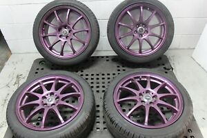 17x7 Et 50 X Cross Speed 5x100 Wheels With Used Tires
