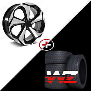 20 Machined Face W Black Outline Wheels W Tires Fits Honda Civic Accord Crv Hrv