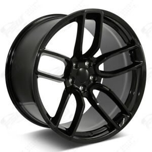 20 Gloss Black Wheels Fits Dodge Charger Challenger Magnum