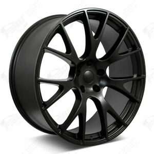 20 Satin Black Wheels Fits Dodge Charger Challenger Magnum