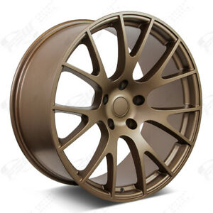 20 Matte Bronze Wheels Fits Dodge Charger Challenger Magnum