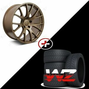 20 Matte Bronze Wheels W tires Fits Dodge Charger Challenger Magnum